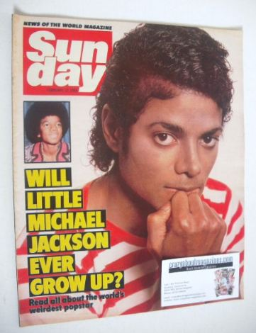 <!--1984-02-12-->Sunday magazine - 12 February 1984 - Michael Jackson cover