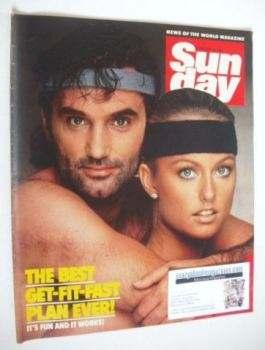Sunday magazine - 19 February 1984 - George Best and Mary Stavin cover