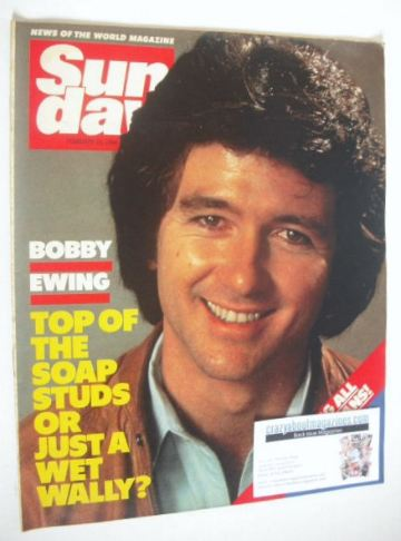 <!--1984-02-26-->Sunday magazine - 26 February 1984 - Patrick Duffy cover