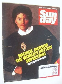 Sunday magazine - 29 April 1984 - Michael Jackson cover