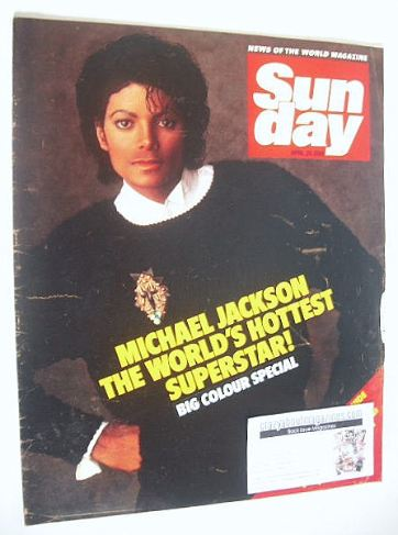 <!--1984-04-29-->Sunday magazine - 29 April 1984 - Michael Jackson cover