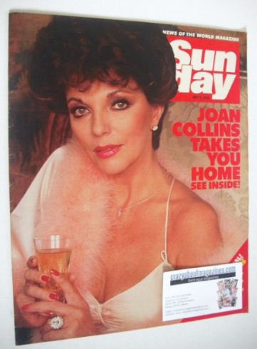 <!--1984-05-06-->Sunday magazine - 6 May 1984 - Joan Collins cover