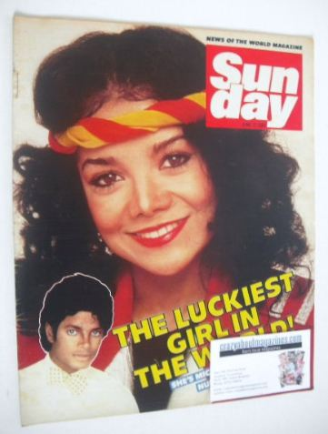 <!--1984-06-17-->Sunday magazine - 17 June 1984 - LaToya Jackson cover