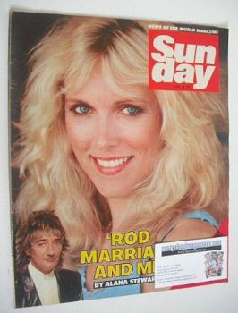 Sunday magazine - 24 June 1984 - Alana Stewart cover
