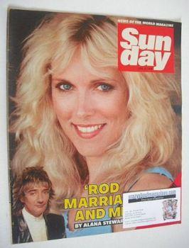 Sunday magazine - 24 June 1984 - Alana Stewart cover