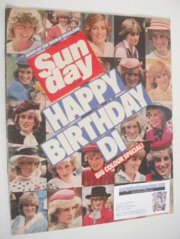 <!--1984-07-01-->Sunday magazine - 1 July 1984 - Princess Diana cover