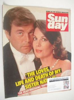 Sunday magazine - 15 July 1984 - Robert Wagner and Natalie Wood cover