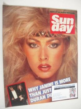 Sunday magazine - 22 July 1984 - Janine Andrews cover