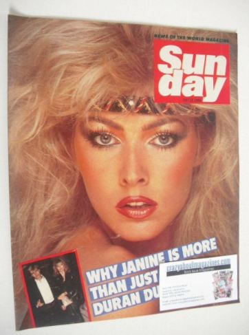 <!--1984-07-22-->Sunday magazine - 22 July 1984 - Janine Andrews cover