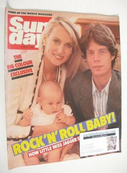Sunday magazine - 5 August 1984 - Mick Jagger and Jerry Hall cover