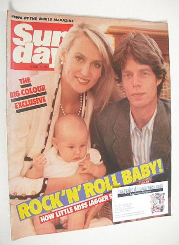 <!--1984-08-05-->Sunday magazine - 5 August 1984 - Mick Jagger and Jerry Ha