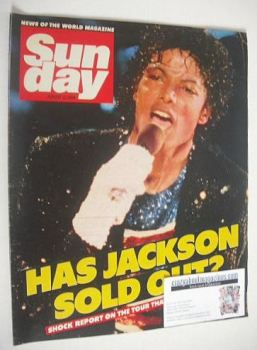 Sunday magazine - 12 August 1984 - Michael Jackson cover