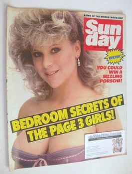 Sunday magazine - 2 September 1984 - Samantha Fox cover