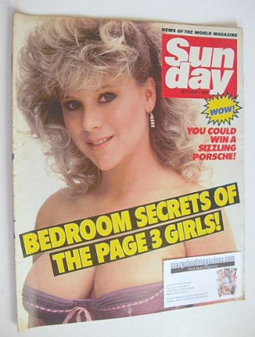 <!--1984-09-02-->Sunday magazine - 2 September 1984 - Samantha Fox cover