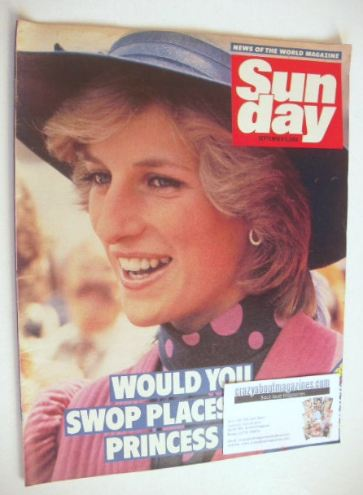 <!--1984-09-09-->Sunday magazine - 9 September 1984 - Princess Diana cover