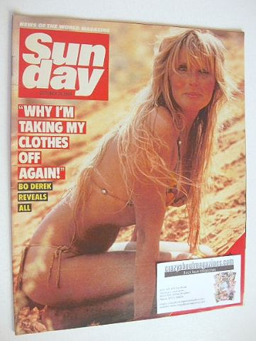 <!--1984-10-28-->Sunday magazine - 28 October 1984 - Bo Derek cover