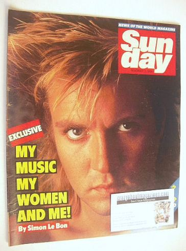 <!--1984-11-11-->Sunday magazine - 11 November 1984 - Simon Le Bon cover