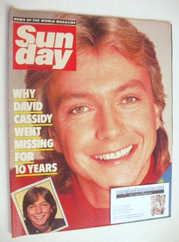 <!--1985-01-13-->Sunday magazine - 13 January 1985 - David Cassidy cover