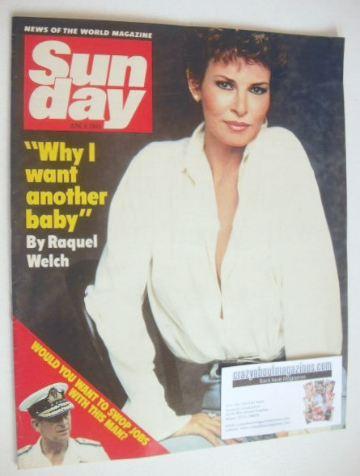 <!--1985-06-09-->Sunday magazine - 9 June 1985 - Raquel Welch cover