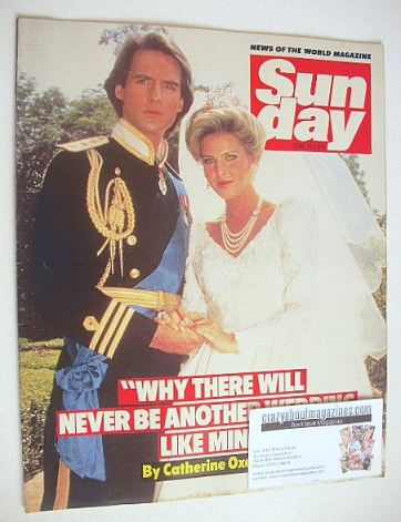 <!--1985-06-30-->Sunday magazine - 30 June 1985 - Michael Praed and Catheri