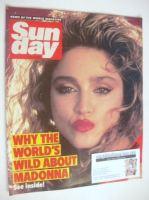 <!--1985-07-21-->Sunday magazine - 21 July 1985 - Madonna cover