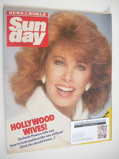 <!--1985-10-20-->Sunday magazine - 20 October 1985 - Stefanie Powers cover