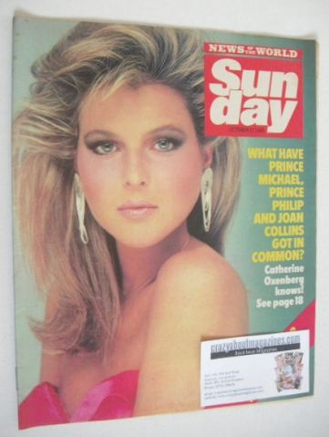 <!--1985-10-27-->Sunday magazine - 27 October 1985 - Catherine Oxenberg cov