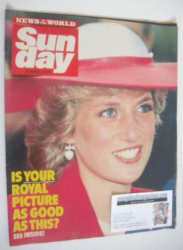 <!--1985-11-17-->Sunday magazine - 17 November 1985 - Princess Diana cover