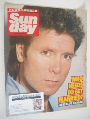 <!--1985-12-01-->Sunday magazine - 1 December 1985 - Cliff Richard cover