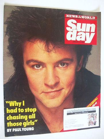 <!--1986-01-12-->Sunday magazine - 12 January 1986 - Paul Young cover