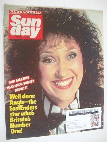 <!--1986-02-02-->Sunday magazine - 2 February 1986 - Anita Dobson cover