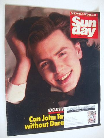 <!--1986-03-23-->Sunday magazine - 23 March 1986 - John Taylor cover