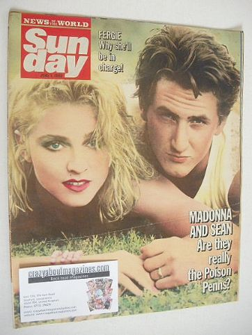 <!--1986-06-01-->Sunday magazine - 1 June 1986 - Sean Penn and Madonna cove
