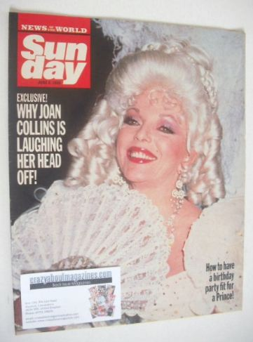 <!--1986-06-08-->Sunday magazine - 8 June 1986 - Joan Collins cover