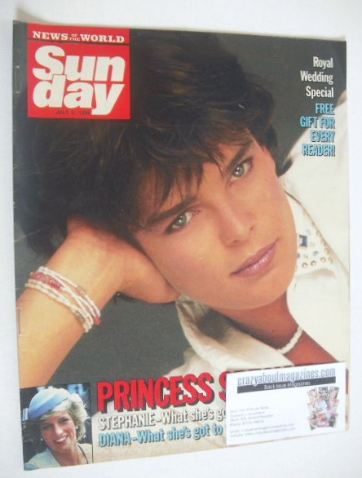 <!--1986-07-06-->Sunday magazine - 6 July 1986 - Princess Stephanie cover