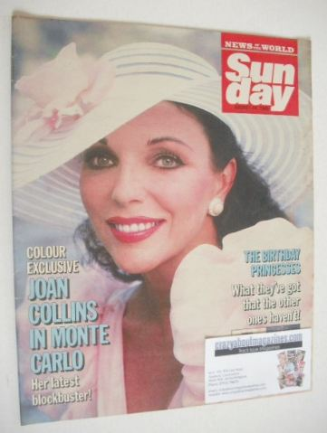 <!--1986-08-10-->Sunday magazine - 10 August 1986 - Joan Collins cover