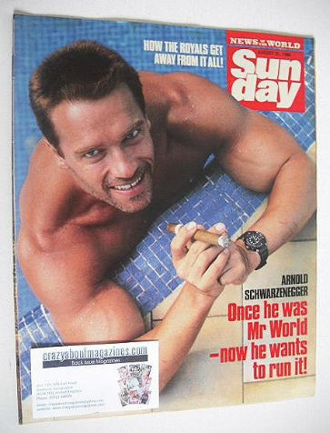 <!--1986-08-31-->Sunday magazine - 31 August 1986 - Arnold Schwarzenegger c