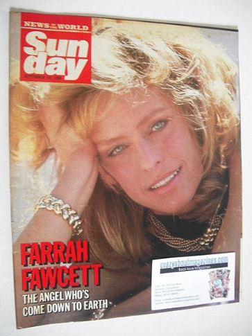 <!--1986-09-14-->Sunday magazine - 14 September 1986 - Farrah Fawcett cover