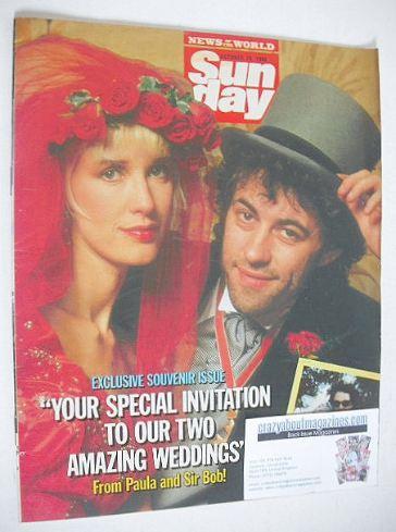 <!--1986-10-19-->Sunday magazine - 19 October 1986 - Bob Geldof and Paula Y