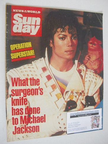 <!--1986-11-09-->Sunday magazine - 9 November 1986 - Michael Jackson cover