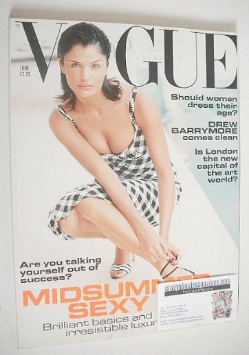 <!--1995-06-->British Vogue magazine - June 1995 - Helena Christensen cover
