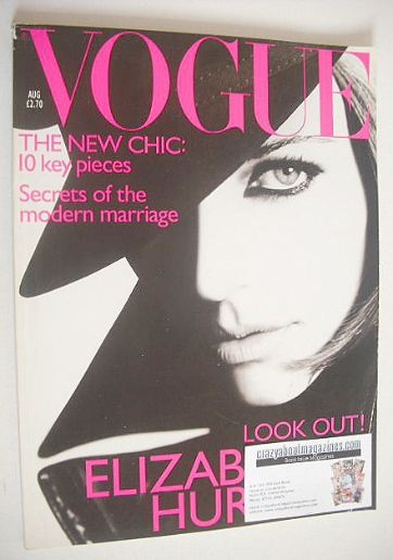 <!--1995-08-->British Vogue magazine - August 1995 - Liz Hurley cover