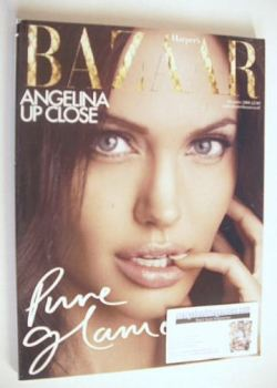 Harper's Bazaar magazine - December 2008 - Angelina Jolie cover (Subscriber's Issue)