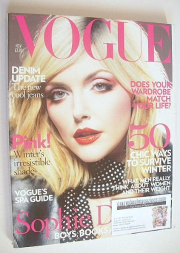 <!--2007-11-->British Vogue magazine - November 2007 - Sophie Dahl cover