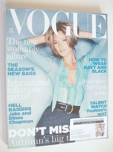 <!--2005-09-->British Vogue magazine - September 2005 - Kate Moss cover