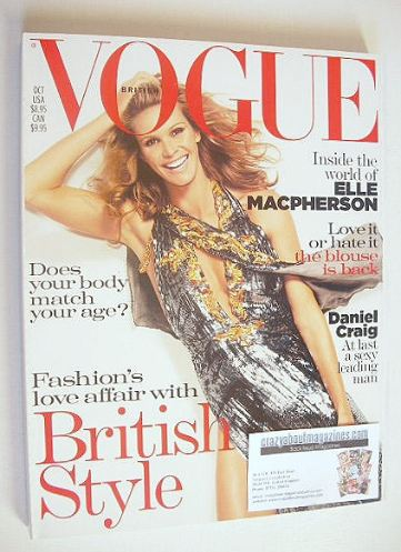 <!--2004-10-->British Vogue magazine - October 2004 - Elle Macpherson cover