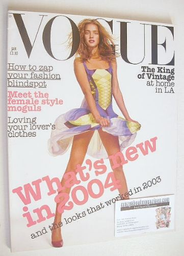 <!--2004-01-->British Vogue magazine - January 2004 - Natalia Vodianova cov
