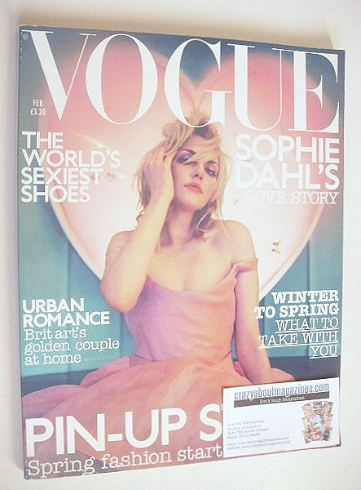 <!--2003-02-->British Vogue magazine - February 2003 - Sophie Dahl cover