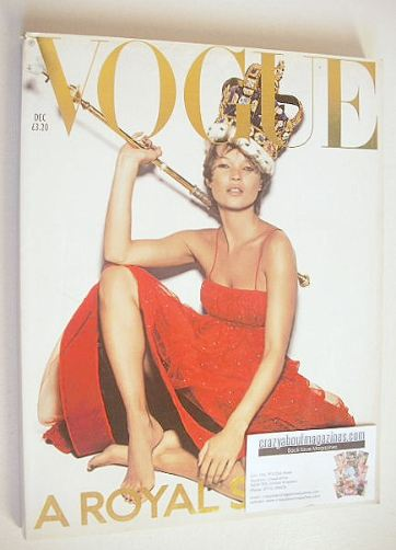 <!--2001-12-->British Vogue magazine - December 2001 - Kate Moss cover