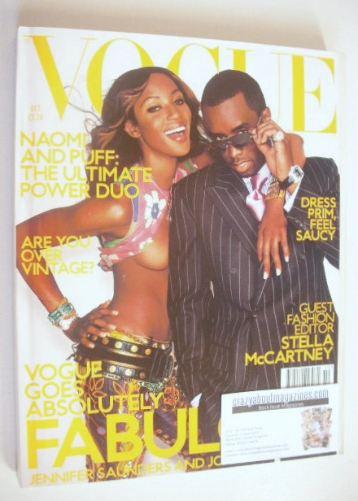 <!--2001-10-->British Vogue magazine - October 2001 - Naomi Campbell and Pu